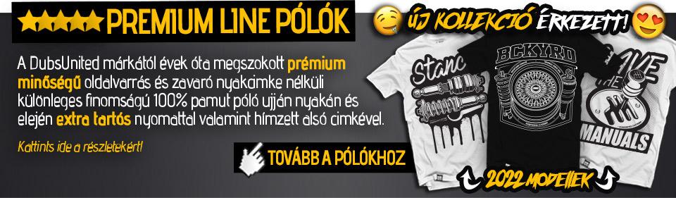 f3a10ac097 Premium Line pólók: A DubsUnited márkától évek óta megszokott prémium  minőségű oldalvarrás és zavaró nyakcimke